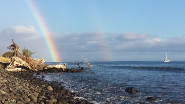 Maui Rainbow and Sailboat